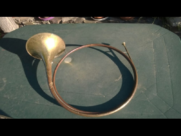 Rare trompe de chasse Dauphine Couturier Hunting horn in D jagdhorn waldhorn